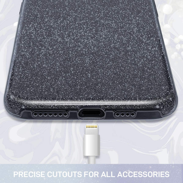 Husa de protectie Samsung Galaxy A30 / Samsung Galaxy A50 2019 Negru Sclipici Color Silicon TPU Carcasa 2