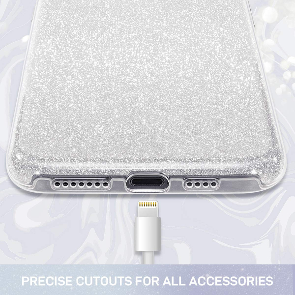 Husa de protectie Samsung Galaxy A30 / Samsung Galaxy A50 2019 Argintie Sclipici Color Silicon TPU Carcasa Silver 2