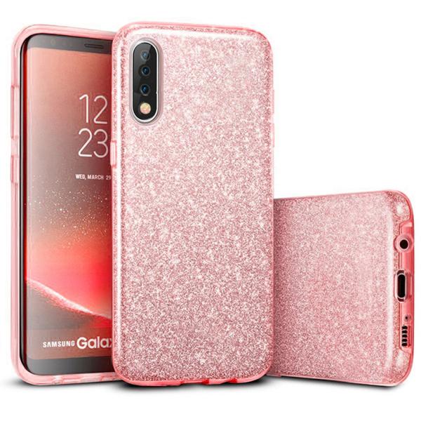 Husa de protectie Samsung Galaxy A30 / Samsung Galaxy A50 2019 Roz Sclipici Color Silicon TPU Carcasa [0]