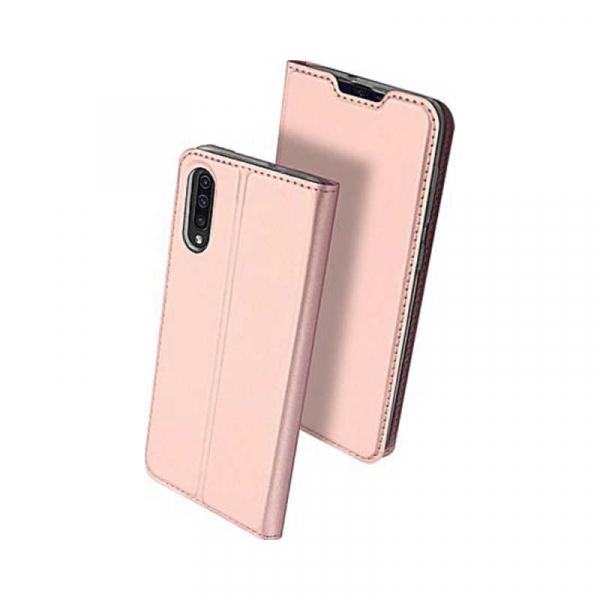 Husa Samsung Galaxy A50 2019 Roz Piele Eco Toc Tip Carte Portofel Premium DuxDucis [0]