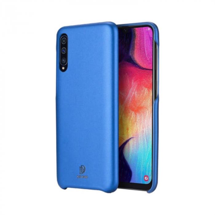 Husa Samsung Galaxy A50 Silicon si Piele Eco Albastru SkinLite DuxDucis [0]