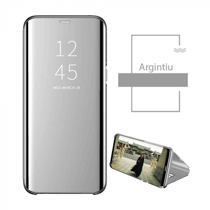 Husa Samsung Galaxy A51 2019 Clear View Argintiu 1