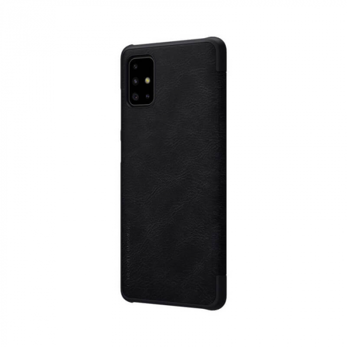 Husa Samsung Galaxy A51 2019 Negru Toc Flip Nillkin Qin Piele Eco Premium Tip Carte Portofel 5