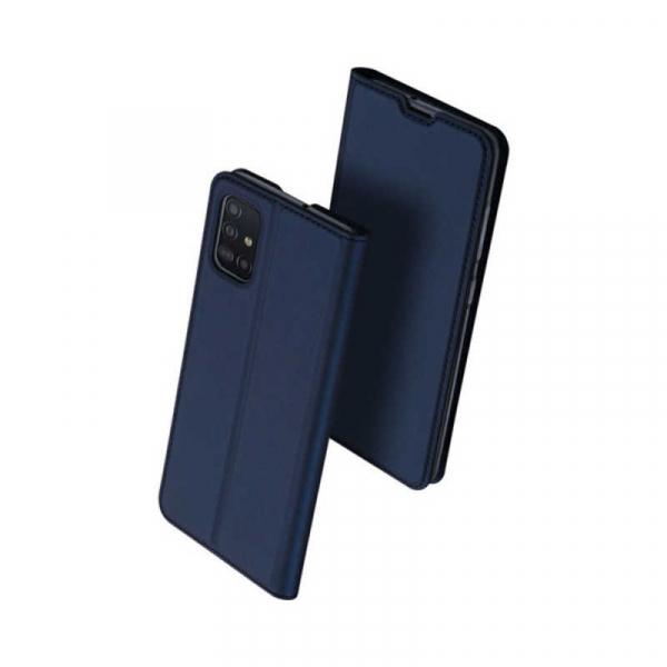 Husa Samsung Galaxy A51 2019 Toc Flip Tip Carte Portofel Piele Eco Premium DuxDucis Albastru 0