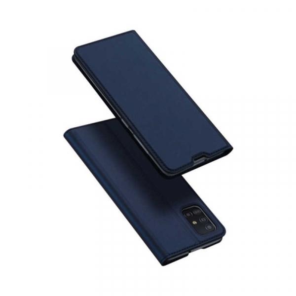 Husa Samsung Galaxy A51 2019 Toc Flip Tip Carte Portofel Piele Eco Premium DuxDucis Albastru 4