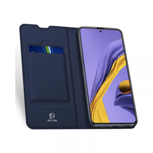 Husa Samsung Galaxy A51 2019 Toc Flip Tip Carte Portofel Piele Eco Premium DuxDucis Albastru 1