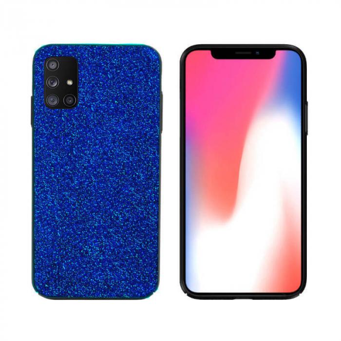 Husa Samsung Galaxy A51 Sclipici Albastru Carcasa Spate Dot [0]