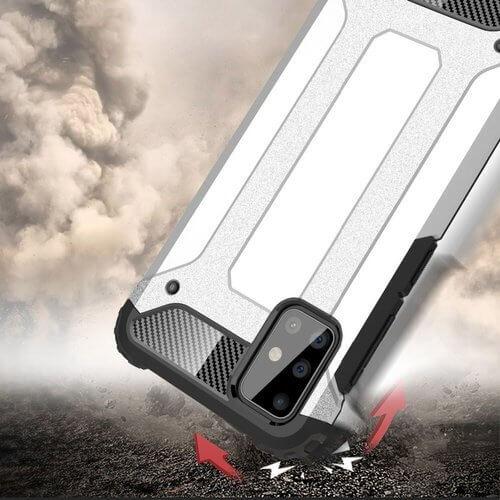 Husa Samsung Galaxy A51 Silicon Antisoc Negru Hybrid Armor [3]
