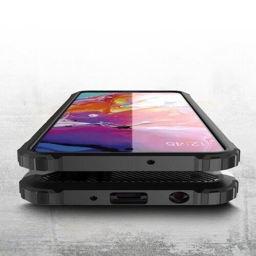 Husa Samsung Galaxy A51 Silicon Antisoc Negru Hybrid Armor [1]