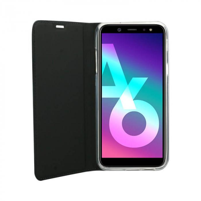 Husa Flip Samsung Galaxy A6 2018 Tip Carte Negru Focus [1]