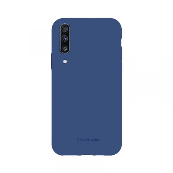 Husa Samsung Galaxy A70 2019 Albastru Carcasa Silicon Mat Molan Cano [0]