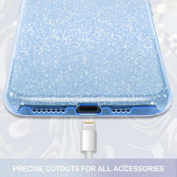 Husa Samsung Galaxy A70 2019 Sclipici TPU Carcasa Spate Albastru Glitter 1