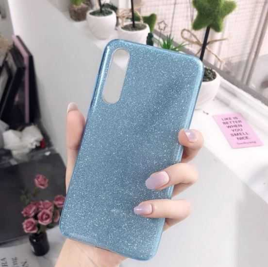 Husa Samsung Galaxy A70 2019 Sclipici TPU Carcasa Spate Albastru Glitter 3