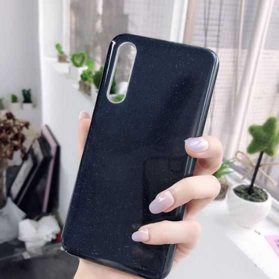 Husa Samsung Galaxy A70 2019 Sclipici TPU Carcasa Spate Negru Glitter 3