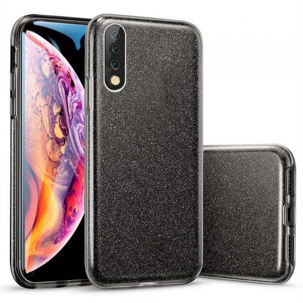 Husa Samsung Galaxy A70 2019 Sclipici TPU Carcasa Spate Negru Glitter 0