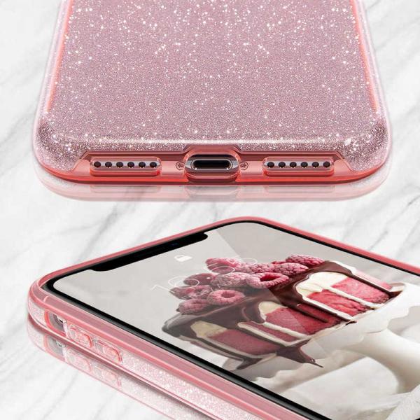 Husa Samsung Galaxy A70 2019 Sclipici TPU Carcasa Spate Roz Glitter 1
