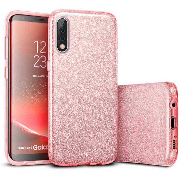 Husa Samsung Galaxy A70 2019 Sclipici TPU Carcasa Spate Roz Glitter 0