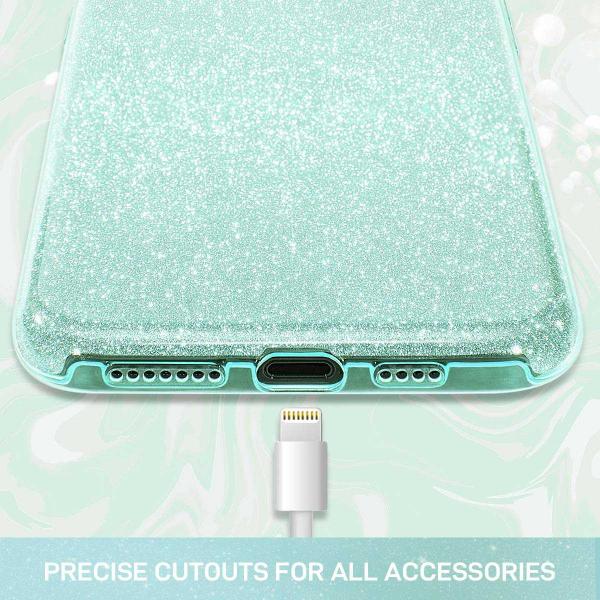 Husa Samsung Galaxy A70 2019 Sclipici TPU Carcasa Spate Verde Glitter 2