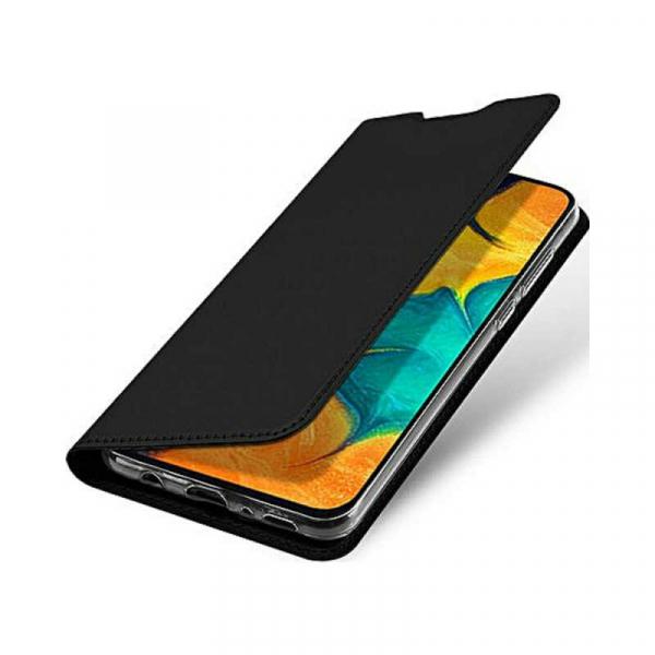 Husa Samsung Galaxy A70 2019 Toc Flip Portofel Negru Piele Eco DuxDucis 0