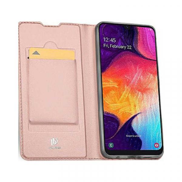 Husa Samsung Galaxy A70 2019 Toc Flip Portofel Roz Piele Eco DuxDucis 1