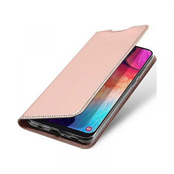 Husa Samsung Galaxy A70 2019 Toc Flip Portofel Roz Piele Eco DuxDucis 3