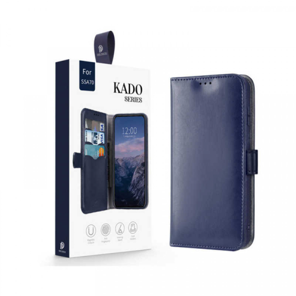 Husa Samsung Galaxy A70 2019 Toc Flip Tip Carte Portofel Albastru Piele Eco Premium DuxDucis Kado 7