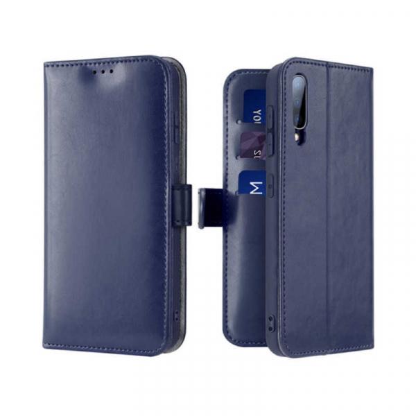 Husa Samsung Galaxy A70 2019 Toc Flip Tip Carte Portofel Albastru Piele Eco Premium DuxDucis Kado 0