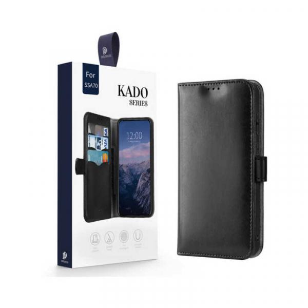 Husa Samsung Galaxy A70 2019 Toc Flip Tip Carte Portofel Negru Piele Eco Premium DuxDucis Kado [7]