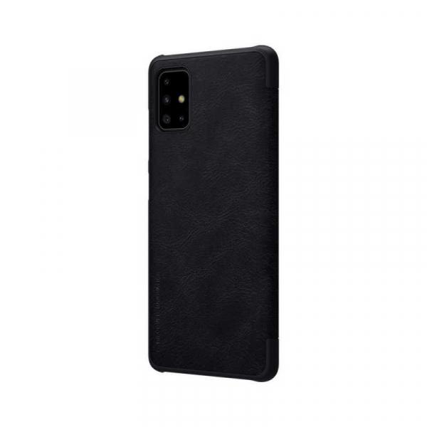 Husa Samsung Galaxy A71 2020 Negru Toc Flip Nillkin Qin Piele Eco Premium Tip Carte Portofel 5