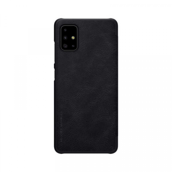 Husa Samsung Galaxy A71 2020 Negru Toc Flip Nillkin Qin Piele Eco Premium Tip Carte Portofel 1