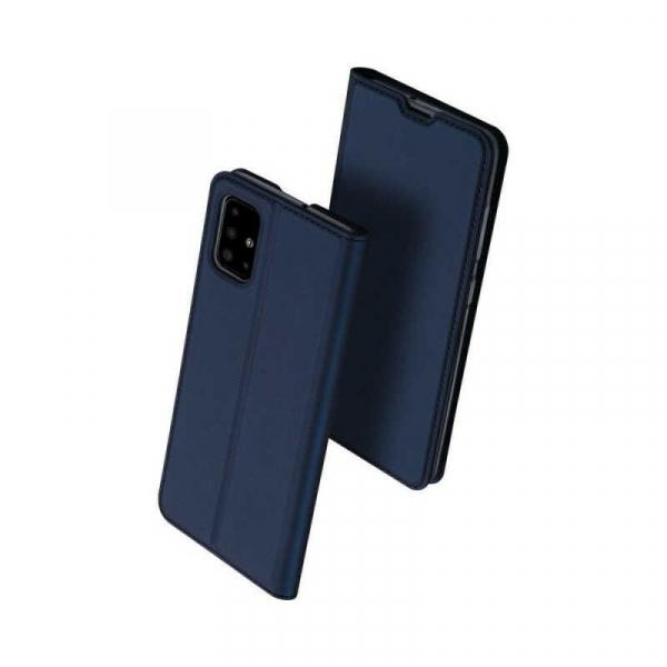 Husa Samsung Galaxy A71 2020 Toc Flip Portofel Bleumarin Piele Eco DuxDucis 0