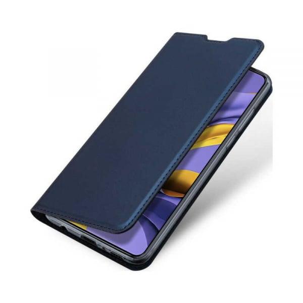 Husa Samsung Galaxy A71 2020 Toc Flip Portofel Bleumarin Piele Eco DuxDucis 3