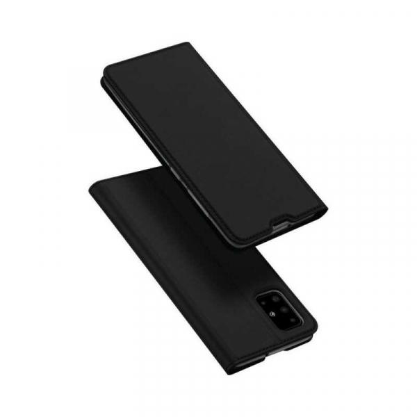 Husa Samsung Galaxy A71 2020 Toc Flip Portofel Negru Piele Eco DuxDucis 4