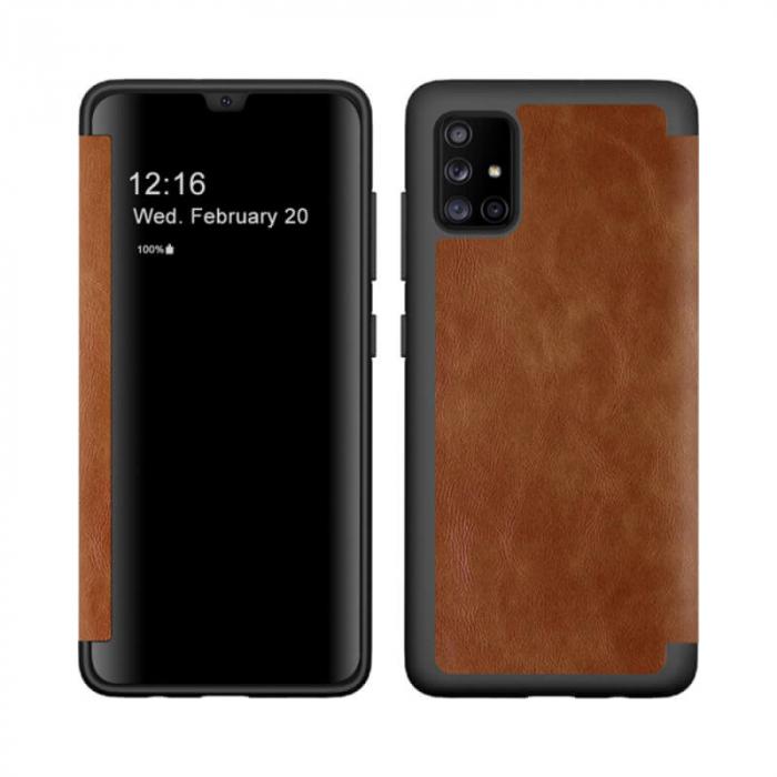 Husa Samsung Galaxy A71 Maro Toc Flip Semitransparent Bys 0