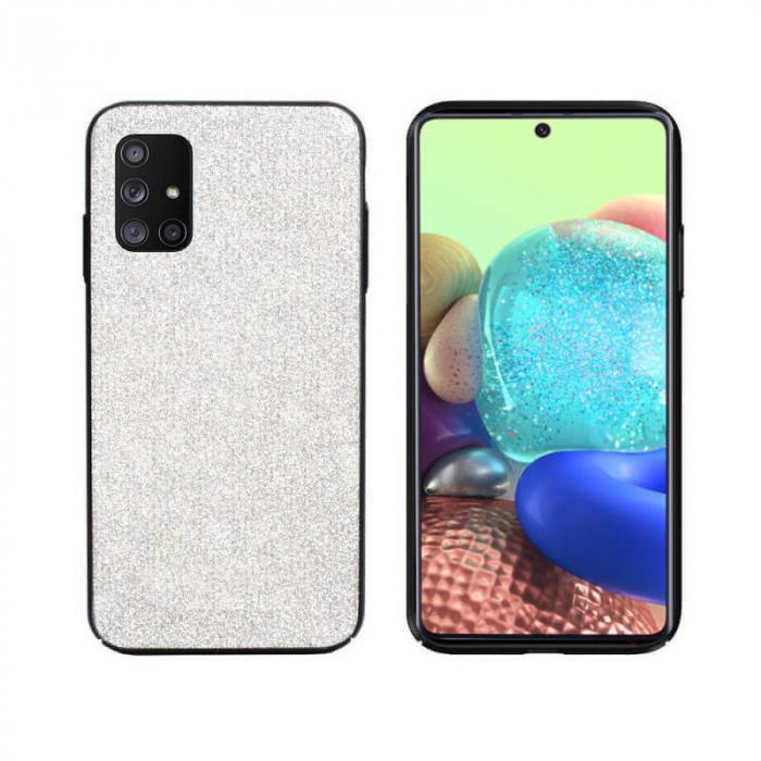 Husa Samsung Galaxy A71 Sclipici Argintiu Carcasa Spate Dot [0]