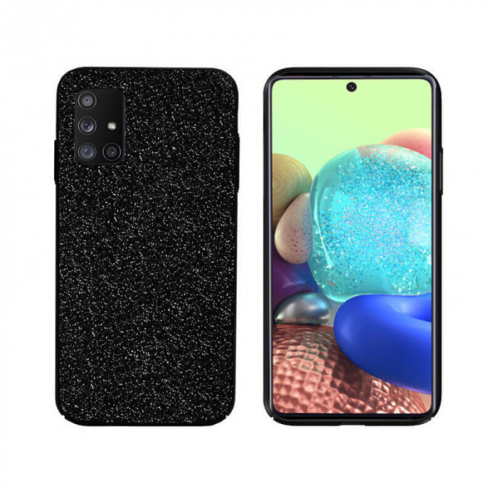Husa Samsung Galaxy A71 Sclipici Negru Carcasa Spate Dot [0]