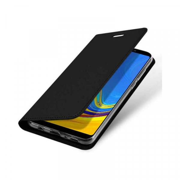 Husa Samsung Galaxy A9 2018 Toc Flip Portofel Negru Piele Eco DuxDucis 3