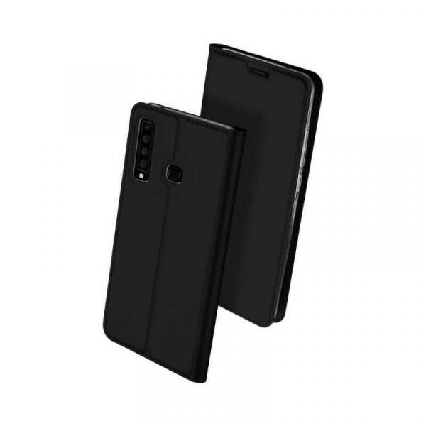 Husa Samsung Galaxy A9 2018 Toc Flip Portofel Negru Piele Eco DuxDucis 0