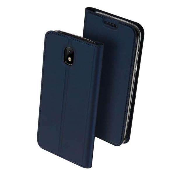 Husa Samsung Galaxy J3 2017 Toc Flip Tip Carte Portofel Bleumarin Piele Eco Premium DuxDucis 0