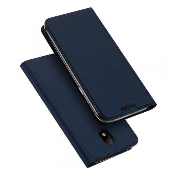 Husa Samsung Galaxy J3 2017 Toc Flip Tip Carte Portofel Bleumarin Piele Eco Premium DuxDucis 4