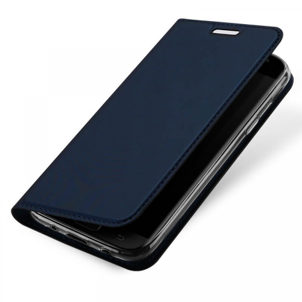Husa Samsung Galaxy J3 2017 Toc Flip Tip Carte Portofel Bleumarin Piele Eco Premium DuxDucis 3