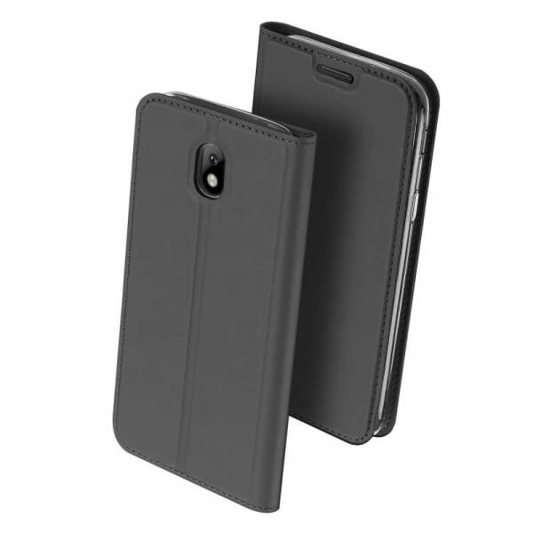 Husa Samsung Galaxy J3 2017 Toc Flip Tip Carte Portofel Negru Piele Eco Premium DuxDucis [0]