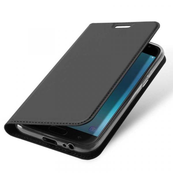 Husa Samsung Galaxy J4 2018 Toc Flip Portofel Negru Piele Eco DuxDucis 3