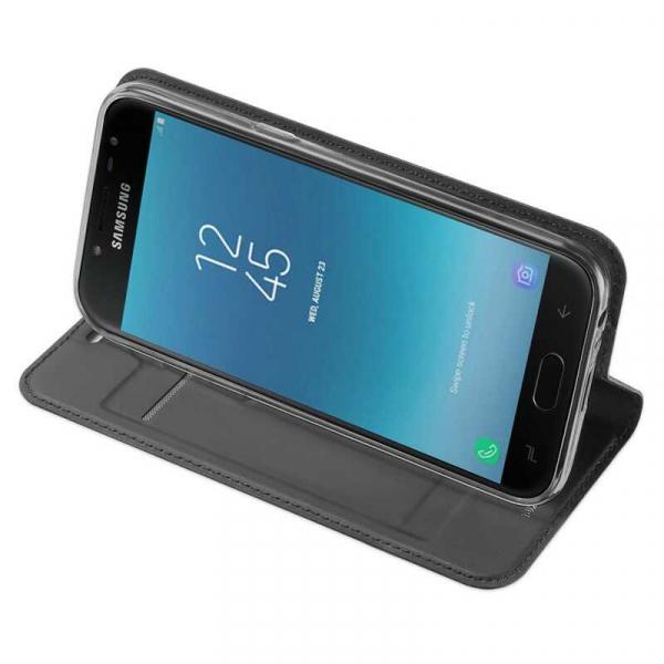 Husa Samsung Galaxy J4 2018 Toc Flip Portofel Negru Piele Eco DuxDucis 2