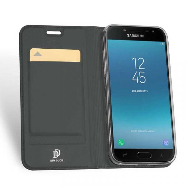 Husa Samsung Galaxy J4 2018 Toc Flip Portofel Negru Piele Eco DuxDucis 1
