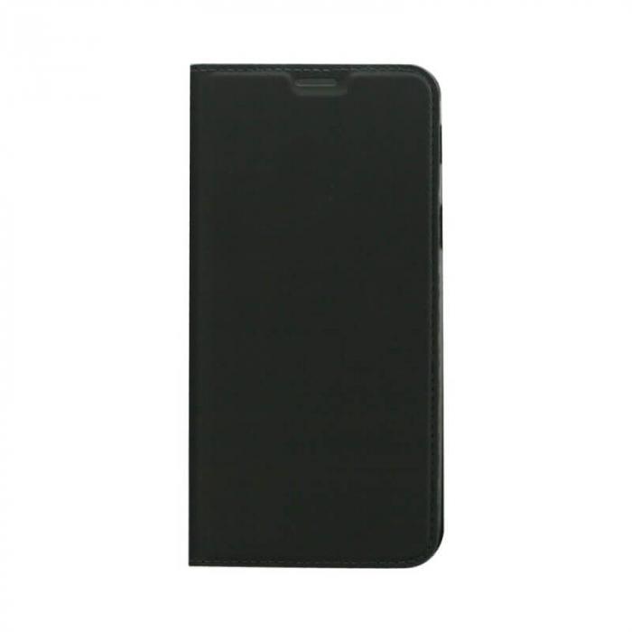 Husa Flip Samsung Galaxy J4 Plus 2018 Tip Carte Negru Focus 0