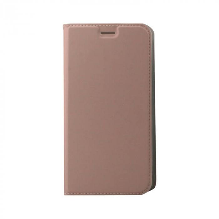 Husa Flip Samsung Galaxy J4 Plus 2018 Tip Carte Roz Focus 0