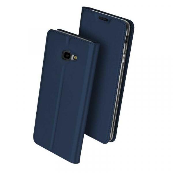 Husa Samsung Galaxy J4 Plus 2018 Toc Flip Portofel Bleumarin Piele Eco DuxDucis 0