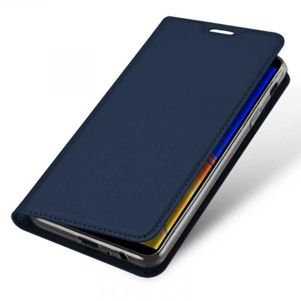 Husa Samsung Galaxy J4 Plus 2018 Toc Flip Portofel Bleumarin Piele Eco DuxDucis 3