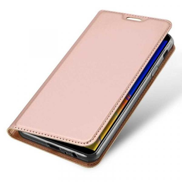Husa Samsung Galaxy J4 Plus 2018 Toc Flip Portofel Roz Piele Eco DuxDucis [3]
